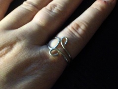 size 8 horned god ring