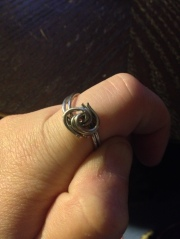 Double spiral ring, size 9