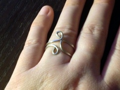 metal ring with spirals for sale